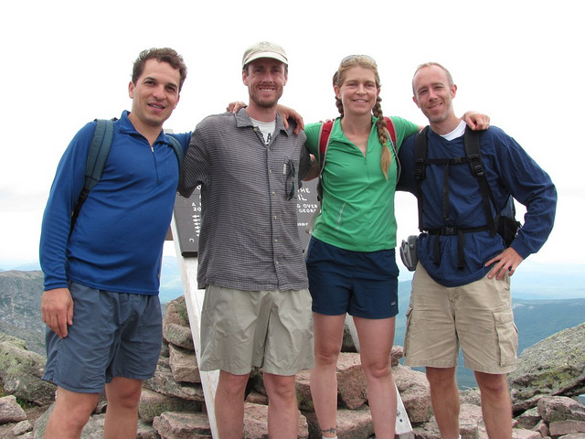 Climbers at top of Katahdin